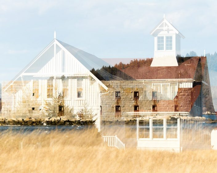 Fort Popham and the Coast Guard Station, Double Exposure
