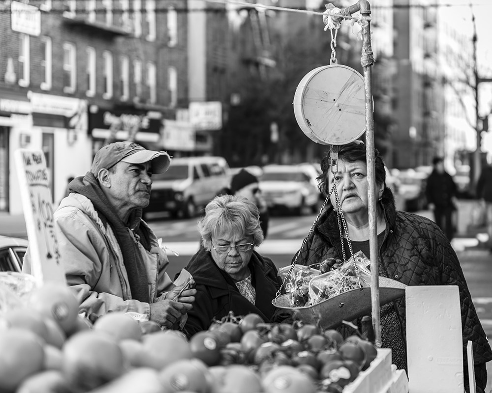 Weighing in at the Fruit Stand Brighton Beach