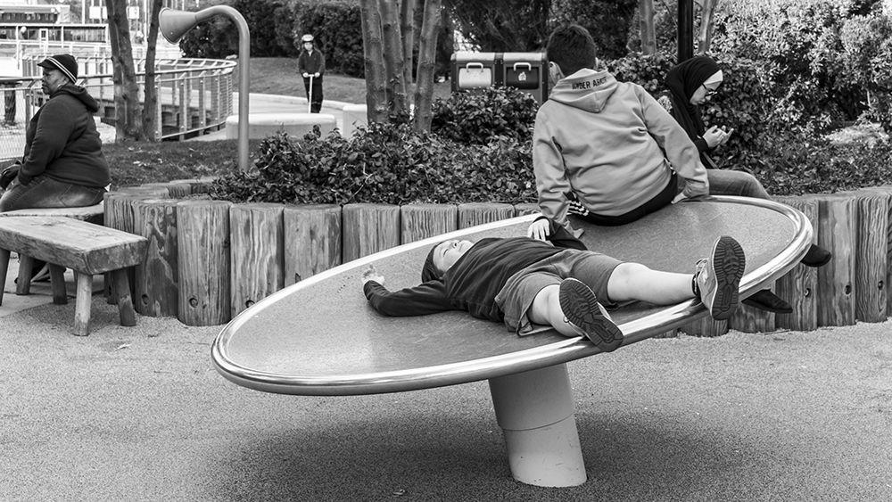 Chillin in Sinatra Park Hoboken