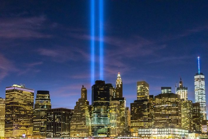 9-11 Memorial Tribute in Light