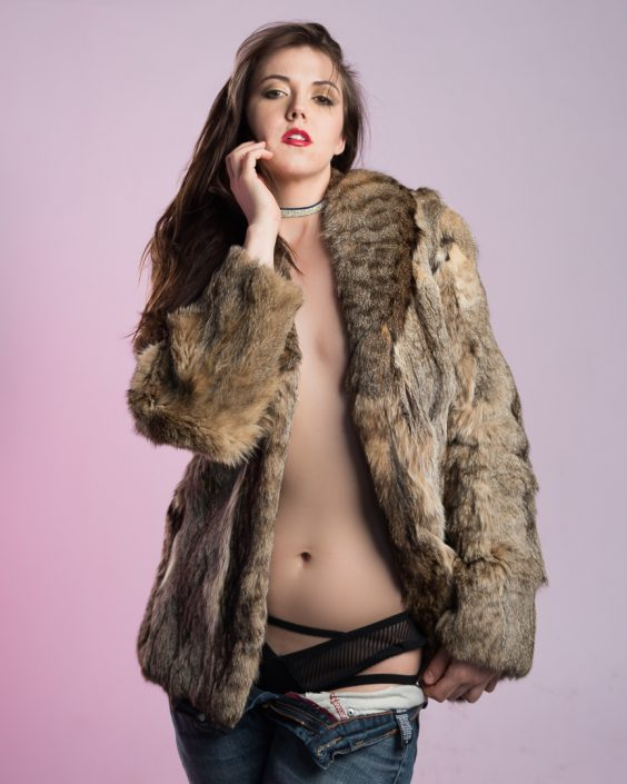 Liz Model Fur Photo Shoot