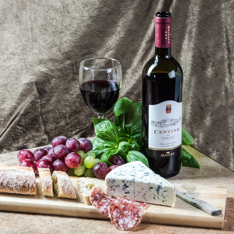 Wine and Cheese Food Photography